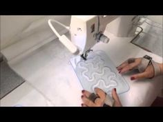 Quilting com uso da Régua Ondas Pequena - YouTube