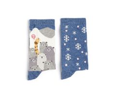 Pack of giraffe and bear pattern socks - OYSHO