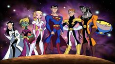 The Legion of Super Heroes, série animada do grupo estreou no Kids WB! (Bloco as crianças da m...