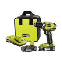 Check out this RYOBI product -       Get the job done with the compact, but commanding, RYOBI® 18V ONE+™ LITHIUM+™ Compact Drill/Driver Kit. Designed to exceed your drilling needs, it also features the exclusive MagTray® and on-board bit storage, for convenient placement of bits and screws. Plus, the integrated LED light gives extra flexibility when working in low-light situations.  This tool also features improved GripZone™ overmold for optimum grip and user comfort.         Powered by…