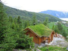 Voici un drôle de chalet avec un toit de verdure en Norvège !