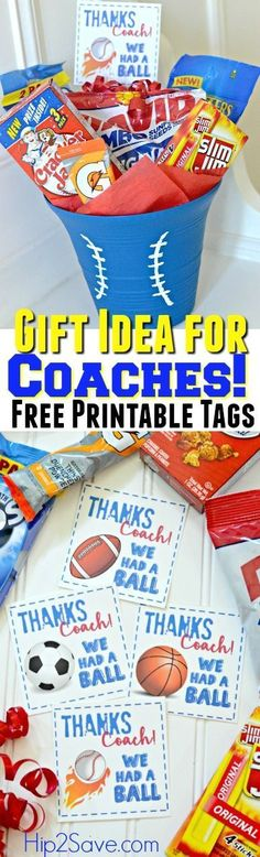 Thank Your Coach w/ This End of Season Gift Idea AND Free Printable Gift Tags – Hip2Save #soccerBoysandGirls