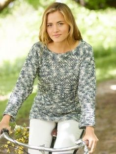 The Warm and Cozy Crochet Pullover (ExS to 5X) is ideal when you want to slip something on without feeling constricted. The ridge pattern of this croche...