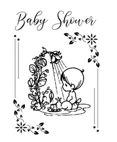 Free Free Printable Baby Shower Coloring Pages, Download Free Clip ... | 286x235
