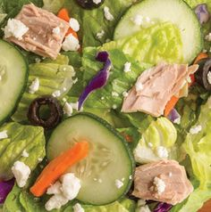 Use your favorite salad dressing on Greek Tuna Salad. No matter if you use balsamic vinaigrette or a Greek-flavored dressing, this salad is sure to be delicious.