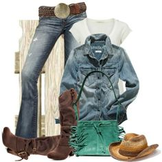 """Cowgirl Chic"" by johnna-cameron on Polyvore"