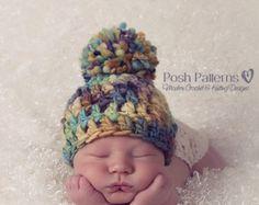 PATRÓN sombrero de concha de caracol patrón del por PoshPatterns
