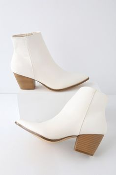 6accd913e430 Pair the Lulus X Matisse Spirit Ivory Snake Pointed Toe Ankle Booties with  some skinny jeans