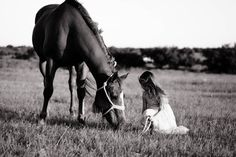 """This photo was selected as the """"photo of the day"""" for Photography Monthly website.  June 20th 2013   little girls and their horses"""