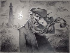 ArtStation - Lighthouse Ghost Story, Kevin Keele Scary Ghost Pictures, Ghost Photos, Real Haunted Houses, Paranormal Photos, Lighthouse Art, Real Ghosts, Ghost Hunting, Ghost Stories, Halloween Art