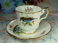 Beautiful Porcelain Teacup & Saucer Featuring by HappyGalsVintage