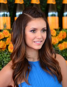 Nina Dobrev at the 2015 Veuve Clicquot Polo Classic. http://beautyeditor.ca/2015/10/26/best-beauty-looks-beyonce