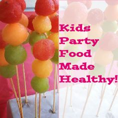 Kids party food made healthy