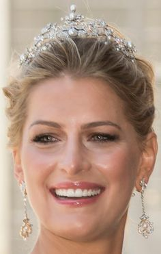Tiara Mania: Antique Corsage Tiara worn by Princess Nikolaos of Greece