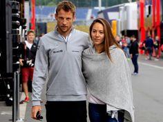McLaren Formula One driver Jenson Button of Britain arrives with his fiancee Jessica Michibata to th... - Bernadett Szabo/Reuters