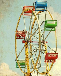 Old time Ferris Wheel at the carnivals...