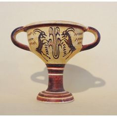 Middle Minoan stem Kylix Ibex