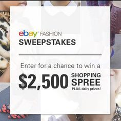 Win a daily prize from eBay!