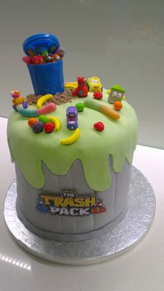 Trash Pack/Grossery Gang Kids Birthday Cake