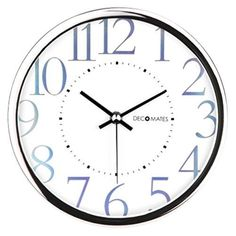 Silent Wall Clock Non Ticking Kitchen Office Decorative Wall Clocks Gift NEW #DecoMates