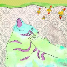 Cats, Psychedelic by Joss Solorzano