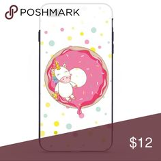 iPhone 8 Plus Phone Case 5.5x4.7 Unicorn/Donut iPhone 8 Plus Phone Case  Case is Dirt Resistant  Thank you for shopping with small businesses. Accessories Phone Cases