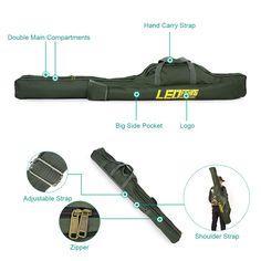 Fishing Bags Fishing Pole Tools Folding Fishing Gear Tackle Storage Bags Case  #FishingBags001