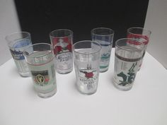 7 Kentucky Derby Church Hill Downs Glasses #126 Thru #132 Year 2000 Thru 2007