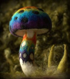 Rainbow hippie magical toadstool pixie woodland by Petradi on Etsy