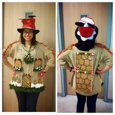 Ugly sweater gingerbread house