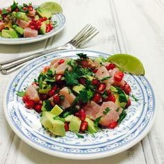 Tuna, Pomegranate and Avocado Ceviche - Shine Dining