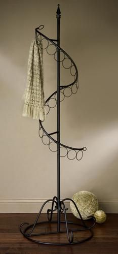 Hanging scarves scarf storage ideas scarf organizer scarf rack finished 4 more thanå¹ è ºcontadino fashion clothing store display rack wrought iron scarf scarf display Scarf Rack, Scarf Hanger, Scarf Display, Handbag Display, Craft Show Displays, Display Ideas, Booth Ideas, Booth Displays, Store Displays