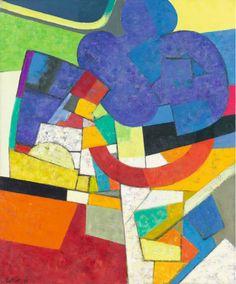 Maurice Estève (France 1904-2001) Rigotte (1970) oil on canvas 64.5 x 54 cm