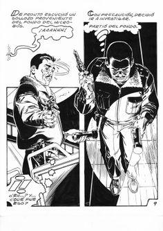 Pagina en Blanco y negro. Comic Mexicano