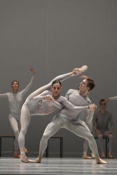 Het Nationale Ballet (Dutch National Ballet), Amsterdam, The Netherlands - The Second Detail (William Forsythe). Dancers: Igone de Jongh & Artur Shesterikov - Photo by Angela Sterling