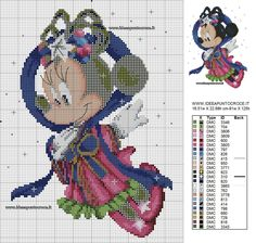MINNIE SCHEMA PUNTO CROCE - MINNIE MOUSE CROSS STITCH PATTERN