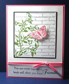 This verse goes well with the brick embossing folder.