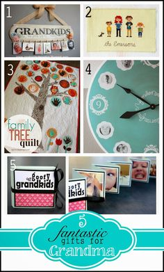 Day 1 mom goes sugar free grandparents parent gifts and craft round up of grandma gifts love the cross stitched family negle Image collections