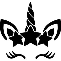 Silhouette Cameo, Baby Silhouette, Silhouette Cutter, Stencil Logo, Stencil Art, Stenciling, Cricut Air, Cricut Vinyl, Unicorn Stencil