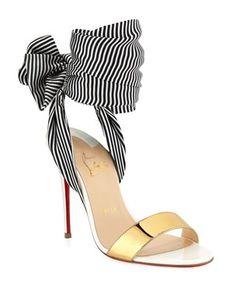Sandale Du Desert Red Sole Sandals by Christian Louboutin at Neiman Marcus Stilettos, Stiletto Heels, Pumps, Neiman Marcus, Streetwear Shoes, Frauen In High Heels, Red Sole, Hot Shoes, Christian Louboutin Shoes