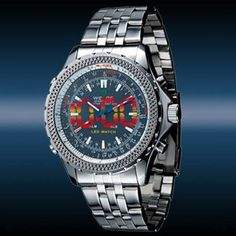 The watch is in special design of dial with electronic digital analog multi-function. As its alarm function, so it not only a watch can tell you the time, but also a alarm clock can wake you up. The special function of water resistance and stainless steel will give convenience to your life as you...