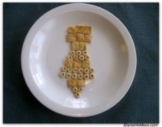 Father's Day Cereal Tie Breakfast Idea.