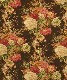 I ADORE this fabric! Waverly Ballad Bouquet Sepia Fabric - $23.85 | onlinefabricstore.net