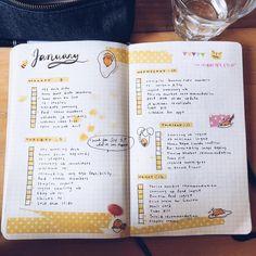 """땅하 journal (@spark.journal) on Instagram: """"last week's spread! yellow + gudetama theme my yellow micron exploded on me, hence the weird…"""""""