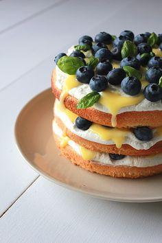 Blueberry Lemon Curd Cream Cake // Oh Sweet Day!