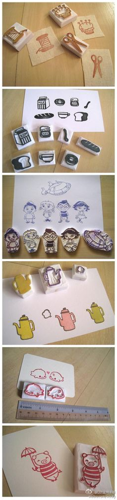 rubber stamp DIY www.fun-stuff-to-… We are want to say thanks if you like to s., rubber stamp DIY www.fun-stuff-to-… We are want to say thanks if you like to s. Diy Stamps, Handmade Stamps, Cute Crafts, Diy And Crafts, Paper Crafts, Rangement Art, Eraser Stamp, Stamp Carving, Carving Tools