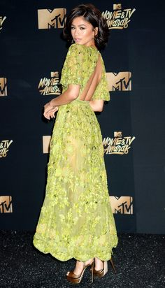 Best Dressed Celebrities: See Their Dresses From the Back - Zendaya in Zuhair Murad
