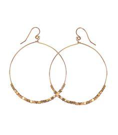 Shimmer Hoop Earrings from Purpose Jewelry