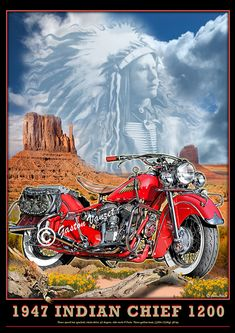 Image of Indian_Chief_classic_motorcycle_poster_art_print