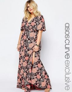 ASOS CURVE Maxi Dress in Vintage Floral Print
